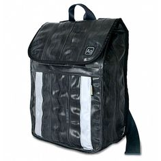 841782ede7 Ag Bicycle Tires, Waterproof Backpack, Black Backpack, Ethical Fashion,  Recycled Materials,