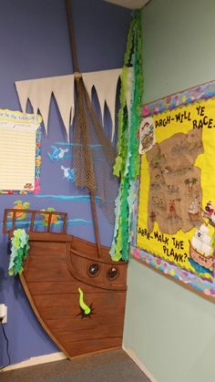Fish or pirate themed classroom. ...put a treasure chest in front of ship with items to pull out for good work awards.