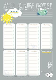 Cuuuute to-do list! To use when life gets crazy and I need paper rather than my electronic list!