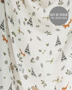 Cotton Swaddle - Forest Friends