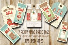 Christmas Sale Price Tags by elfivetrov on @creativemarket