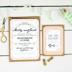 Floral Keepsake Wedding Invitation And RSVP - invitations