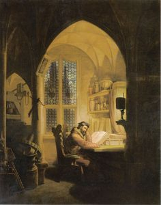 Faust in his Study, 1829, Georg Friedrich Kersting