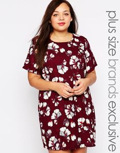 New Look Inspire Floral Tunic Dress