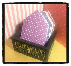 3x3 Mini Envelopes w/Blank Note Cards  Set of 9  by PoeticGarb