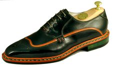 One of our newest models at Buday Shoes from dark green boxcalf leather!