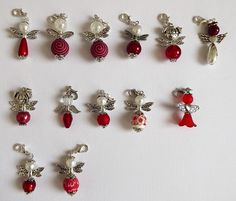 Neue Perlenengel in rot...  /  Beaded angels in red