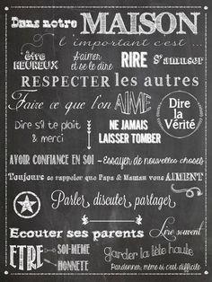 citations française sur toile maison - Recherche Google