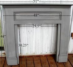 blue roof cabin: Mantel Made From Pine Boards (direct from Mimi's site)