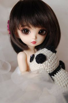 miuna and panda Cute Baby Girl Pictures, Cute Cartoon Pictures, Cute Cartoon Girl, Cute Love Cartoons, Cute Girl Hd Wallpaper, Cute Couple Wallpaper, Beautiful Barbie Dolls, Pretty Dolls, Cute Babies Photography