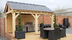 Oak Gazebo BBQ Shelter by Radnor Oak