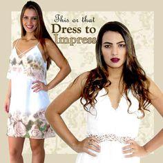 This or that?  (Este ou aquele?)  Dress to impress (vestido para  impressionar)  Impressione neste final de ano.   Acesse já :  www.santollo.com.br   Enviamos para todo Brasil !!!   Visite-nos  Santóllo Modas  Rua Juca Marinho 15  Bairro São Sebastião  Uberaba-MG   Telefones : Comercial (34) 33166586  WhatsApp (34) 988112985   #moda #look #impress #dress #vestidos #newyears #anonovo