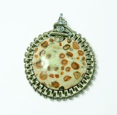 jaspis leopardzi mandala wisiorek  w ArtePora Craft na DaWanda.com