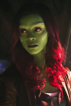 Zoe Saldana as Gamora in Avengers: Infinity War