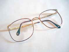 Luxotica Vintage 1990s Deadstock Eyeglasses Frames Round Tortoise Shell / Gold Wire Rimmed Glasses