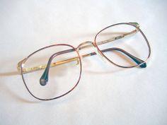 Luxotica Vintage 1990s Deadstock Eyeglasses Frames Round Tortoise Shell / Gold Wire Rimmed Glasses