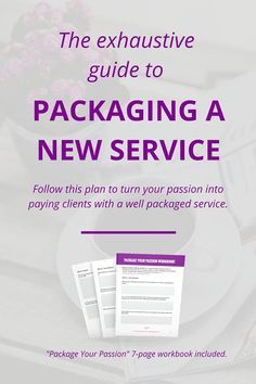 Truly amazing step-by-step tips for creating a new service. Will use this for all new services in the future!