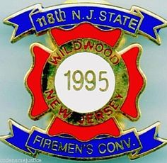 WILDWOOD NEW JERSEY 2009 State Firefighters Convention COLLECTIBLE  LAPEL PIN
