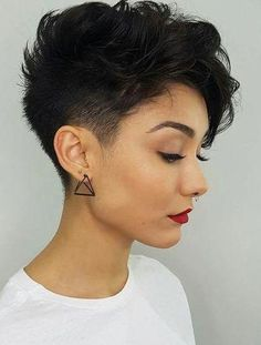 Latest Short Pixie Cuts Short pixie haircuts cause unprecedented interest in women, pixie is particularly popular in In the photo you can see th., Pixie Cuts hair women 28 Latest Short Pixie Cuts You'll Love for Summer 2019 - Short Pixie Cuts Short Hairstyles For Thick Hair, Short Pixie Haircuts, Curly Hair Styles, Trendy Haircuts, Women Pixie Haircut, Pixie Haircut For Thick Hair, Haircut Short, Popular Haircuts, Latest Hairstyles