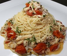 Crab Pasta with Meyer Lemon and Chive Butter Sauce