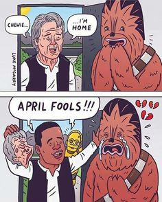 Poor Chewie! #Chewie'sBrokenHeart #LetsPrankFinnAndWearAReyMask