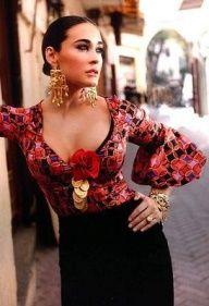 vicky martin berrocal trajes flamenca - Google Search Fashion Mode, Look Fashion, Womens Fashion, Fashion Design, Gypsy Fashion, Fashion Vintage, Flamenco Costume, Flamenco Dancers, Flamenco Dresses