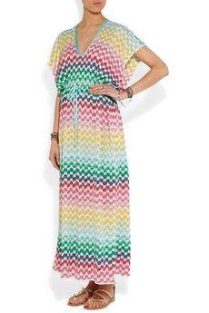 Missoni | Crochet-knit maxi kaftan | NET-A-PORTER.COM