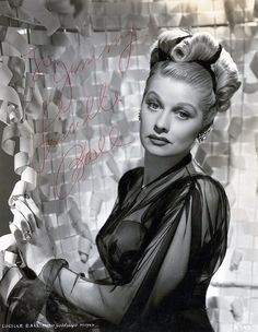 Lucille Ball images | Lucille Ball Signed Photo