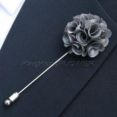 handmade 'KingKong Flower' Lapel Pin Flower Boutonniere for Wedding, dance, party