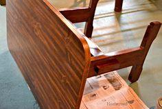 Grain Sack Striped Laundry Folding Table