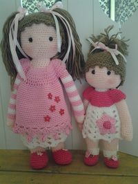 doll mods made by Sapie van Sch. / based on a lalylala crochet pattern