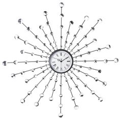19 Antique Inspired Sunburst Polyresin Wall Clock u2013 USD $ 79.99 | Decorative u0026 Functional | Pinterest | Wall clocks Clocks and Walls  sc 1 st  Pinterest & 19