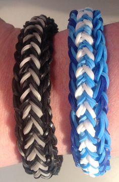 New Double FlipSide Bracelet- Reversible - Rainbow Loom