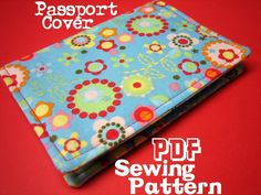 Passport Cover PDF Sewing Pattern. $6.00, via Etsy.