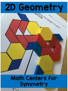 Work on Symmetry and positional language as you use the centers in this 2D geometry resource!
