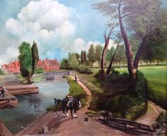 Someone's rendition of John Constable's Flatford Mill ('Scene on a Navigable River') 1816–17