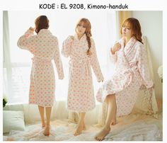9208-170rb Jual kimono handuk bathrobe mandi korea