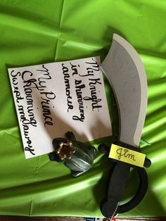 Father's Day, birthday or anniversary DIY gift for your husband or man. A sword that has a pun poem funny and cute gesture for him.