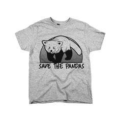 Save The Pandas Shirt Athletic Grey Kid