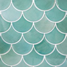 Moroccan Fish Scales by Mercury Mosaics. American made handcrafted tile. Custom tile for commercial projects and residential. Contact us! Room Tiles, Wall Tiles, Fish Scale Tile, Cocina Diy, Coastal Bedrooms, Fish Scales, Kids Bath, Color Tile, Bathroom Interior