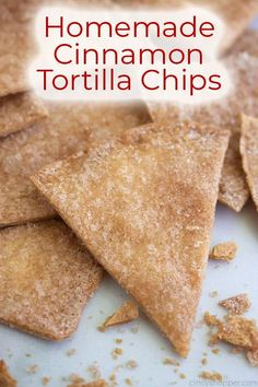 Cinnamon Tortilla Chips, Cinnamon Tortillas, Cinnamon Chips, Appetizer Recipes, Snack Recipes, Dessert Recipes, Appetizers, Desserts, Dinner Recipes