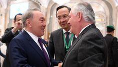 Президент встретился с госсекретарем США Тиллерсоном