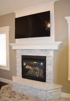 When we moved into this house, we configured the furniture arrangement with the fireplace as the focal point. The only problem was, it wasn't much to look at (in my opinion). My first thought was to add molding stretching from the mantel to the ceiling to add more presence. All I needed was 2 bending …