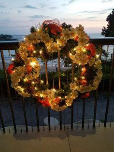 Plumeria Christmas Wreath Kui I Florist LLC Hilo Hawaii Kuiandiflorist