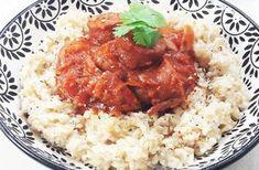 rougail saucisses léger Weight Watchers, un bon plat mijoté pleins de saveurs et réconfortant, très facile à préparer en moins de 30 minutes pour un repas de famille sains.