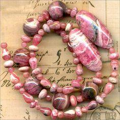 """RHODOCHROSITE Beads~Rounds, Rondells,Ovals 30mm Argentina 16"""" str. Genuine"""