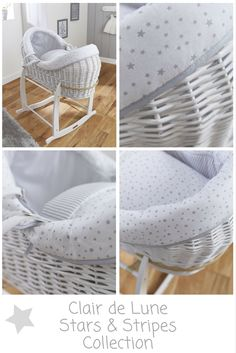 Make a style statement in your nursery with the Clair de Lune White Wicker Crossover® Noah Pod®. A contemporary Moses basket design with integrated wicker hood, it creates a cosy & cocooned sleeping space for your baby, and looks stunning in any nursery. What's more, the neutral grey and white colours make it super chic, and perfect for a baby girl or boy! Check it out!