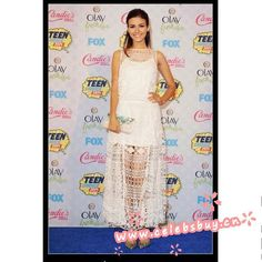 Victoria Justice white lace dress 2014 Teen Choice Awards $119 each at Celebsbuy.cn