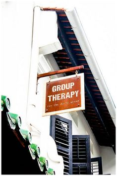 What a great name for a coffee shop. Picture by Chelle of Group Therapy Cafe. What a great name for a coffee shop. Picture by Chelle of Group Therapy Cafe. Coffee And Books, I Love Coffee, Cafe Restaurant, Restaurant Design, Coffee Cafe, Coffee Shops, Great Names, Coffee Shop Design, Brick And Mortar