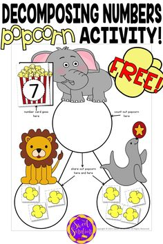 Use these fun free downloads and popcorn to introduce your kindergarteners to decomposing numbers. Includes a recording sheet - learn more!